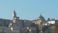 Stock Video Footage of Bergamo Italy rooftops in Citta Alta