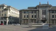 Stock Video Footage of Bergamo Piazza della Liberta street traffic