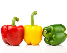 Stock Photo of red, yellow, green pepper