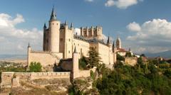 Segovia Castle (Alcazar of Segovia), Spain Stock Footage