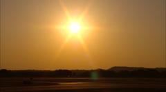 Boeing PT17 Stearman TakeOff Sunset Stock Footage