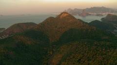 Mountains and Ocean of Rio de Janeiro, Brazil - stock footage