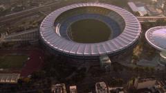 Aerial Shot of Maracana Stadium, Rio de Janeiro Stock Footage
