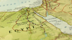 Cairo Egypt Map Slider Dolly Panning Stock Footage