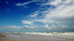 Beach time lapse. Padre Island, Texas - stock footage