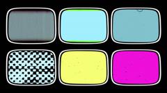 Video Wall / Retro Media, Countdown, Film Grains Stock Footage