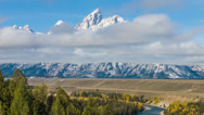 Stock Video Footage of Grand Tetons Wyoming