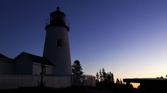 Pemaquid Lighthouse at dawn Stock Footage