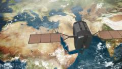 4K UltraHD Spy Satellite Middle East 3660 Stock Footage