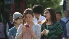 Girl with cell phone Stock Footage