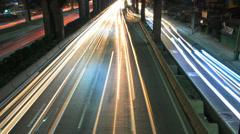 Night highway Stock Footage