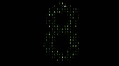 Binary code screen matrix style - stock footage