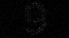 Stock Video Footage of Binary code screen matrix style