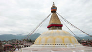 Stock Video Footage of Static shot of Boudhanath Temple, Kathmandu