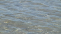 Ocean water shallow tight Stock Footage