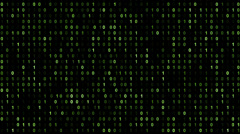 Binary code screen matrix style - stock footage