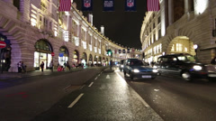 London's Regent Street At Night - stock footage