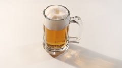 Glass mug of beer  Stock Footage