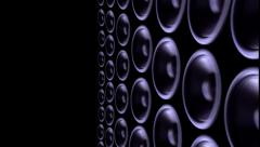 Thumping bass audio speakers - stock footage