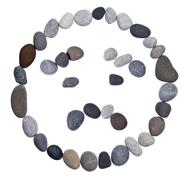 emoticon smiley stone - stock photo