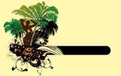 Stock Illustration of palm beach samba girls vector art