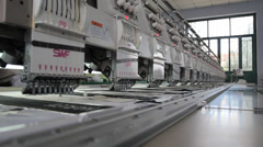 Embroidery Machine Stock Footage