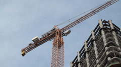 Constructing with Cranes, time lapse - stock footage