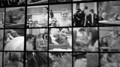 Three short clips of people in school - stock footage