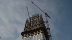 Constructing with Cranes, time lapse Stock Footage