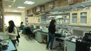Stock Video Footage of Indian modern microbiology lab
