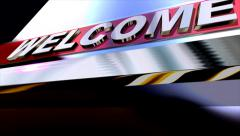Welcome ! 3D Text - stock footage