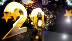 2014 Numeric New year 4 - stock footage