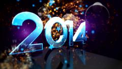 2014 Numeric New year 5 - stock footage