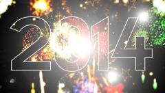 2014 Numeric New year 6 - stock footage