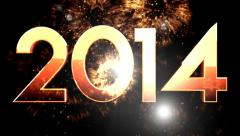 2014 Numeric New year 8 - stock footage