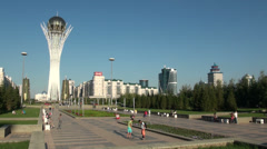 Futuristic architecture in modern Astana, capital city of Kazakhstan Stock Footage