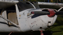 Wreck plane 3 Stock Footage
