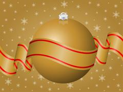 Christmas decoration gold Stock Illustration