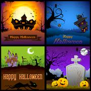 Stock Illustration of Happy Halloween Poster
