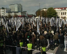 Crowd of Muslims Stock Footage
