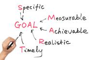 Stock Illustration of goal setting concept