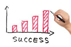 success concept - stock illustration