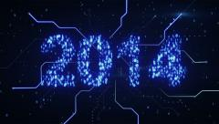 Binary 2014 shape loop since 10.00 Stock Footage