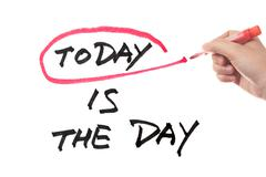today is the day - stock illustration