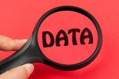 Searching in data Stock Illustration