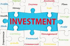 Investment words Stock Illustration