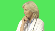 Stock Video Footage of Portrait of Senior female doctor