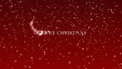 Marry Christmas and Happy New Year Stock Footage