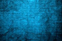 Cracked blue wall Stock Photos