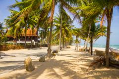 tropical beach at gulf of thailand - stock photo